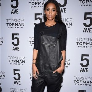 Top shop leather overalls